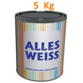 National Paints ALLES WEISS Vopsea alchidica superlucioasa 5 kg